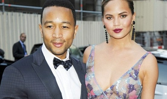 Photos: Chrissy Teigen Exposes Her Nipples As She Steps Out Bra-less With Husband, John Legend