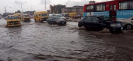 Deplorable State Of Ikeja-Along Bus Stop, Lagos After Heavy Down Pour [PHOTOS]