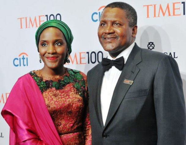 Image result for picture of dangote with his daughter