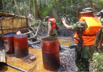 JTF Destroys 31 Illegal Refineries, Arrests 18 In N/Delta