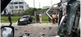 Photo: 6 dead in fatal accident in Lekki, Lagos