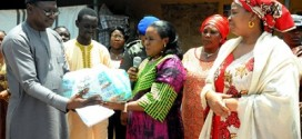 Buhari's Wife Presents Relief Materials To IDPs In Jos