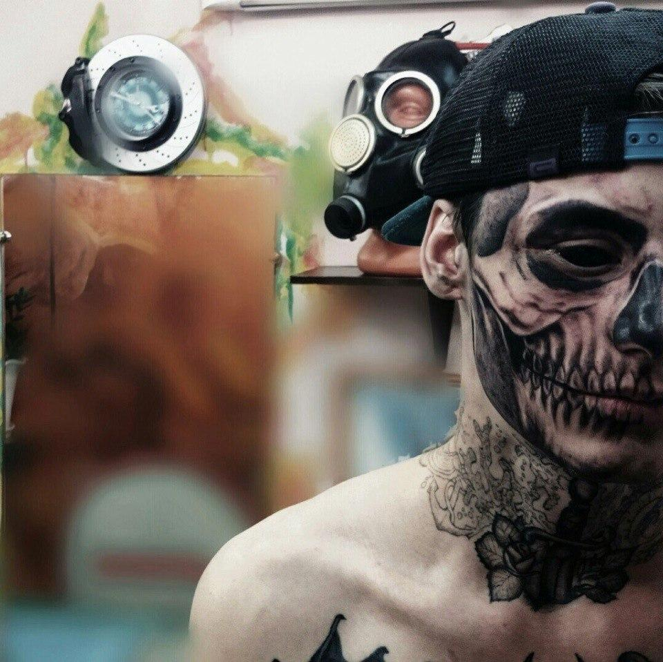 Skull Drama Face Tattoo: WELCOME TO SOURCE HEALTH AND LIFESTLYE: September 2015