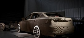 "This Drivable Lexus ""Origami Car"" Is Made Of Precision-Cut Cardboard"