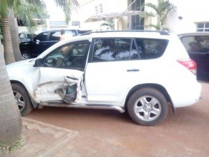 Nollywood Actress, Shan George Narrowly Escapes Death In Car Crash [Photo]