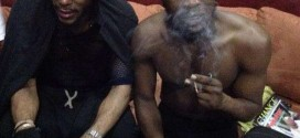 American Rapper, Mos Def Hangs Out With Seun Kuti In Lagos; Both Smoking [Photo]