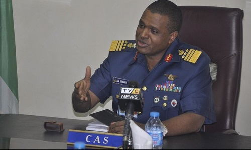 Image result for Chief of Air Staff, Air marshal Sadique Abubakar