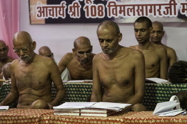 Digambara Monks Indian group se...