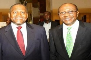 Aliko Dangote and Godwin Emefiele