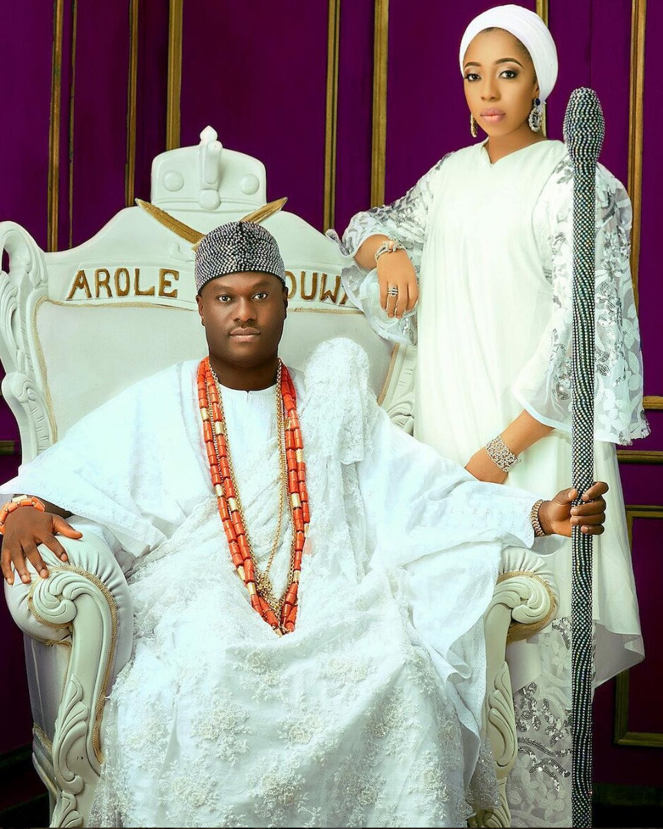 Image result for ooni of ife and wife