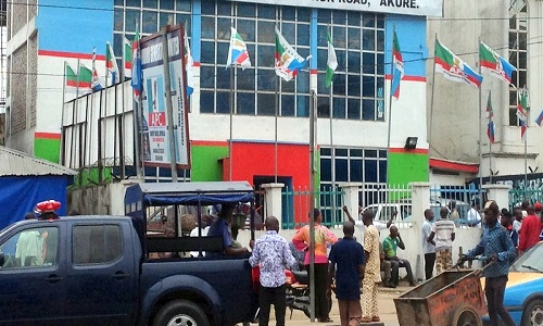 APC Ondo State Secretariat Entrance Scattered With Charms