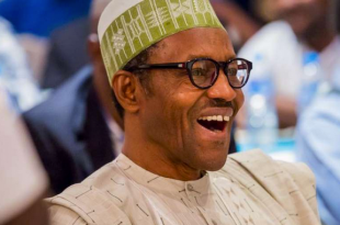 Buhari laughing