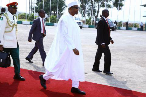Image result for Buhari Leaves For Chad