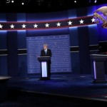 Hillary Clinton and Donald Trump In US Presidential Debate