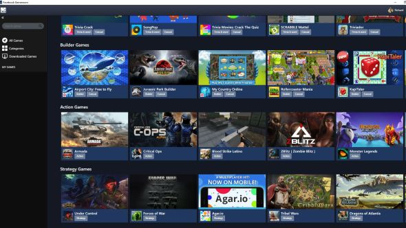 Facebook launches Gameroom, a new PC App for Gaming