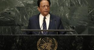 Prime Minister Anerood Jugnauth of Mauritius addresses the 71st United Nations General Assembly in the Manhattan borough of New York, U.S., September 23, 2016.  REUTERS/Mike Segar