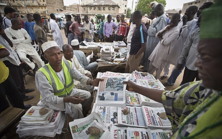 newspaper stands - Nigerian Newspaper Headlines Today: 8th February
