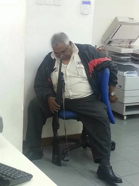 see how security guard was punished for sleeping on duty