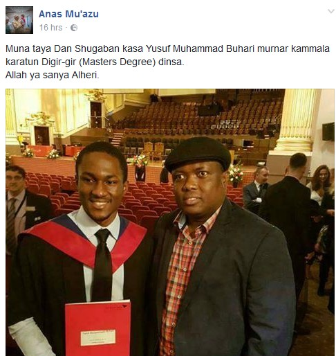 Look What President Buhari's Son Is Up To In UK University