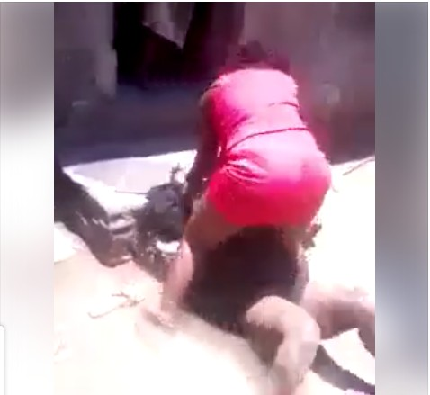 two women fight over man