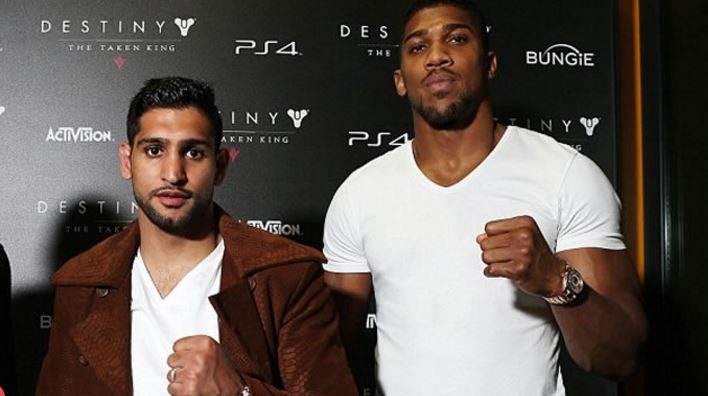 Anthony Joshua Accepts Amir Khan's Apology Over Cheating Claims