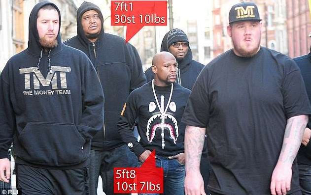 photos: Mayweather's Bodyguards Are So Big They Take Separate Private Jet