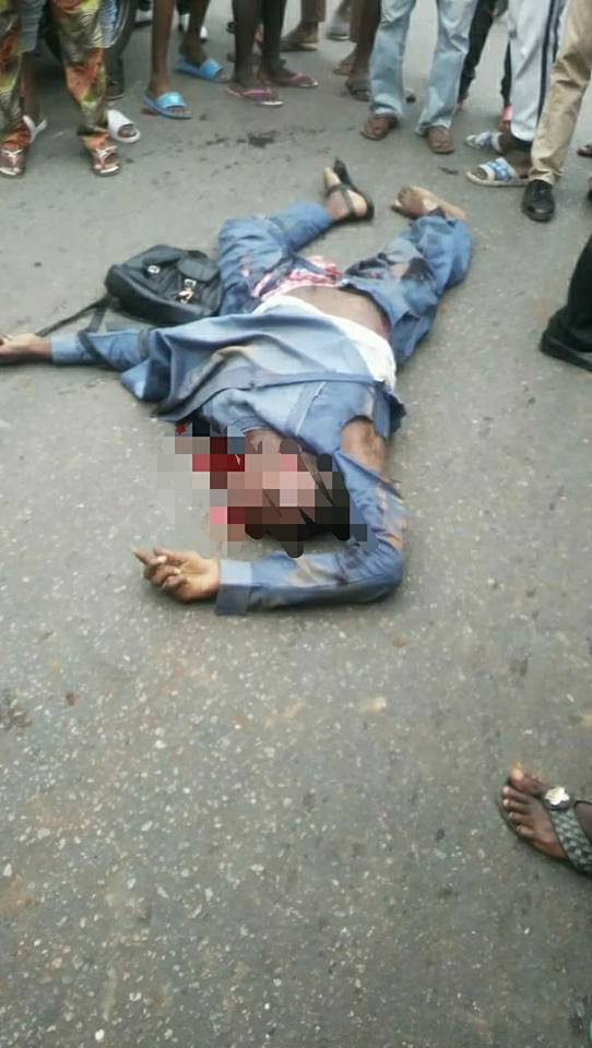 Okada Rider And Passenger Collision With Dangote Truck | Graphic Photos