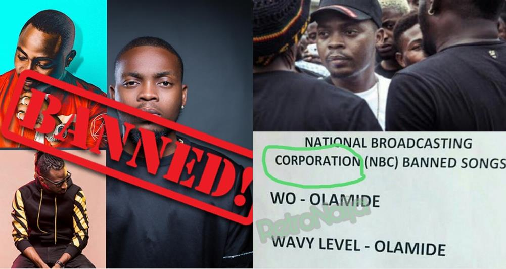 FG bans songs by Olamide, Davido, 9ice