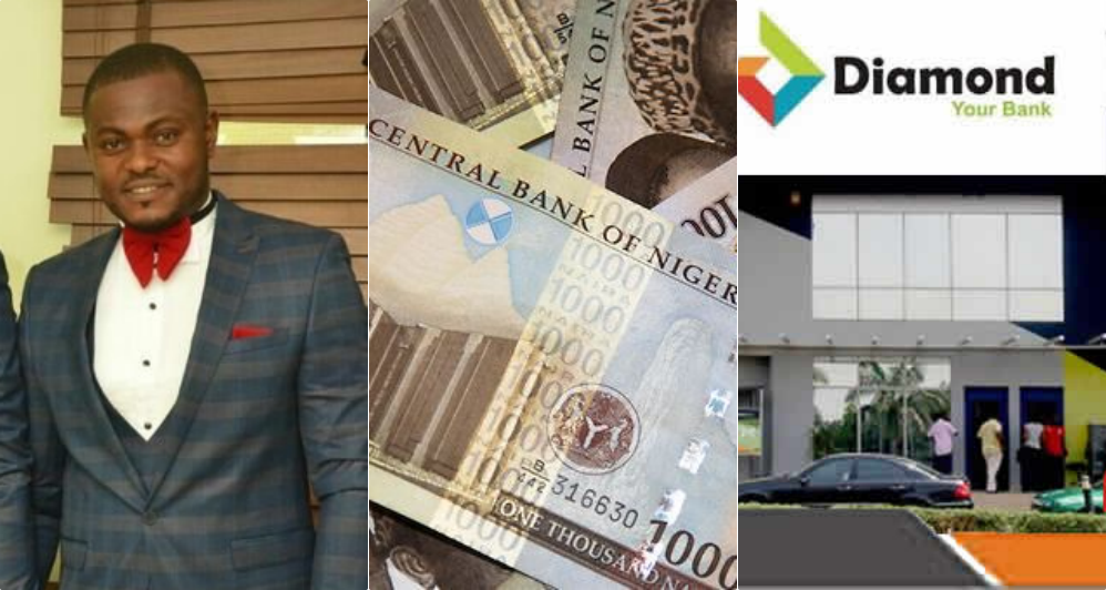 Image result for Man calls out Diamond bank after N7.3 million was mistakenly transferred to his account