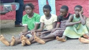 Police arrests 4 female teenagers during cult initiation