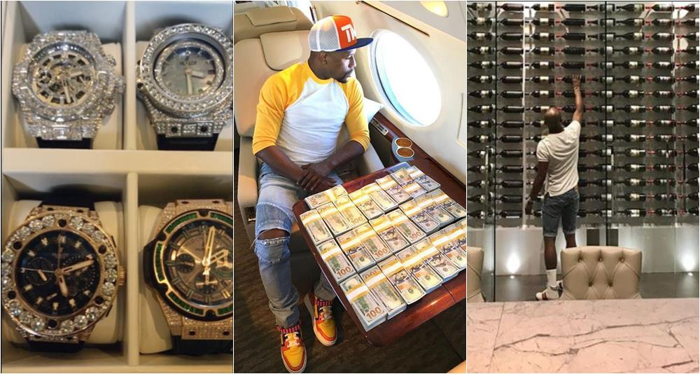 Floyd Mayweather Shows Off His Wine Cellar And Watches In