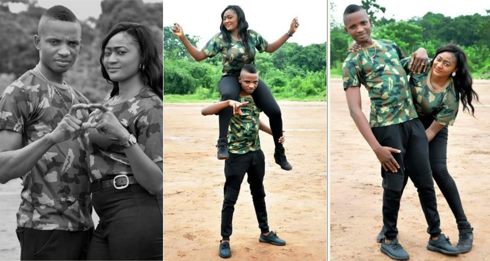 This Pre Wedding Photos Of A Nigerian Military Are Curly Trending Online And People Who See The Photo Fall In Love With It