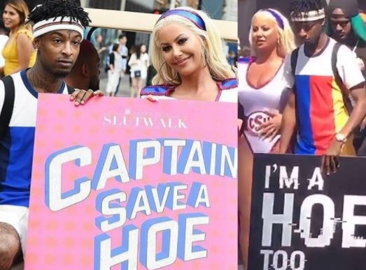 Savage Supports Amber Rose at SlutWalk