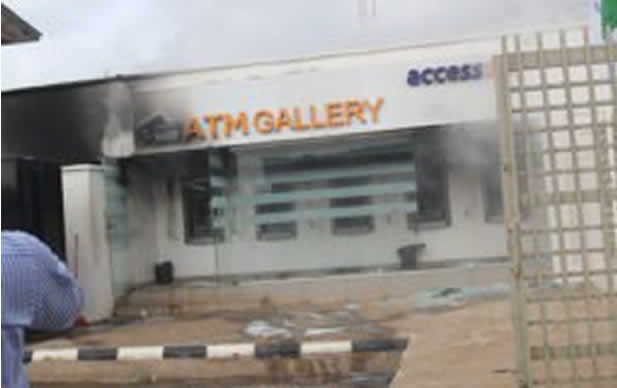 Access Bank ATM guts fire in Lagos