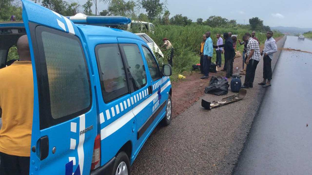 Image result for FRSC honours four diesel truck accident victims in Ondo