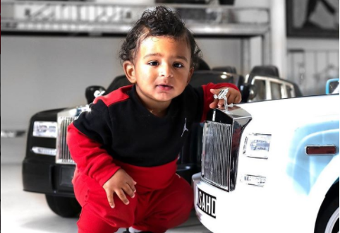 Ashad Khaled Poses With His Two Mini Rolls Royce Cars