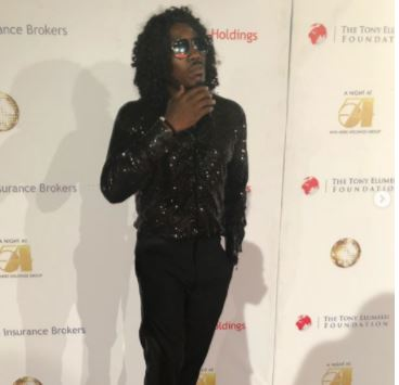 The moment Comedian Bovi is dressed like an African Michael Jackson (Photo)
