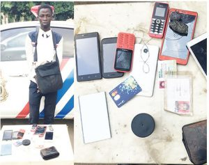 Man arrested for stealing phones in church service(Photo)