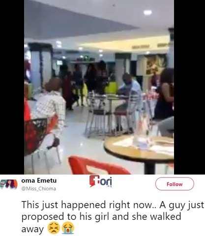 Lady Publicly Rejects Her Boyfriends Marriage Proposal