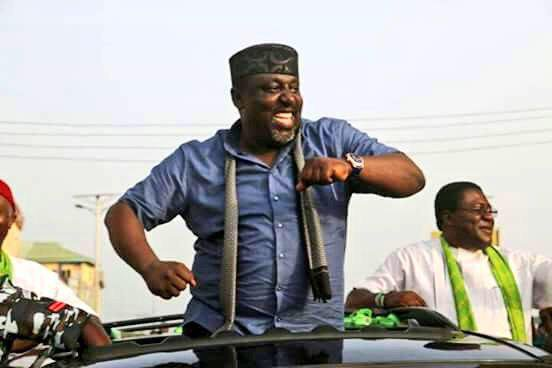 Nigerians React As Rochas Okorocha Swears In Sister As