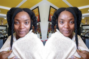 Image result for CHIOMA AKPOTHA ROCKS HER NATURAL HAIR IN NO-MAKEUP PHOTO… AND FANS ARE BASHING HER