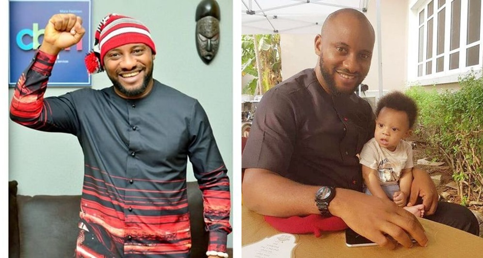 Actor Yul Edochie Shares Cute Picture With His 5 Months Old Son Information Nigeria