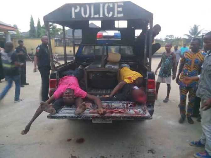 Two dead as Policemen engage armed robbers in gun shootout
