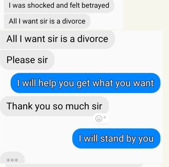 Divorce-Seeking Wife Recounts How She Caught Her Cheating