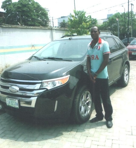 The Police At The Ikoyi Division Lagos South West Nigeria Have Arrested A Driver Emmanuel Agene  For Allegedly Stealing His Employers Ford Edge Suv