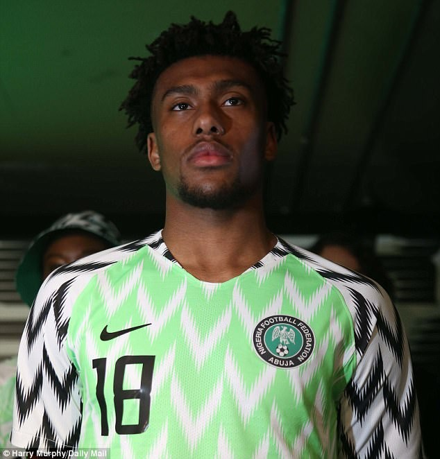 new product 81c15 d17cd Wizkid, Alex Iwobi officially unveil new Super Eagles jersey ...