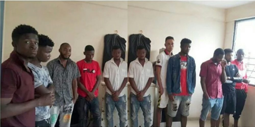 10 Nigerian Yahoo boys arrested in Ghana over fraudulent