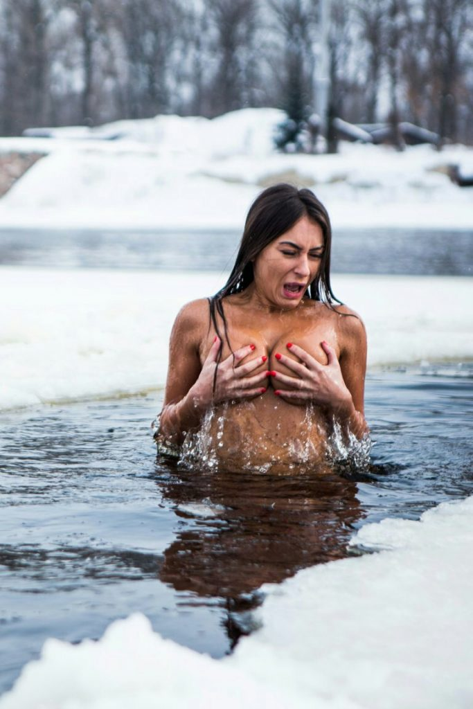 Girl naked in the cold