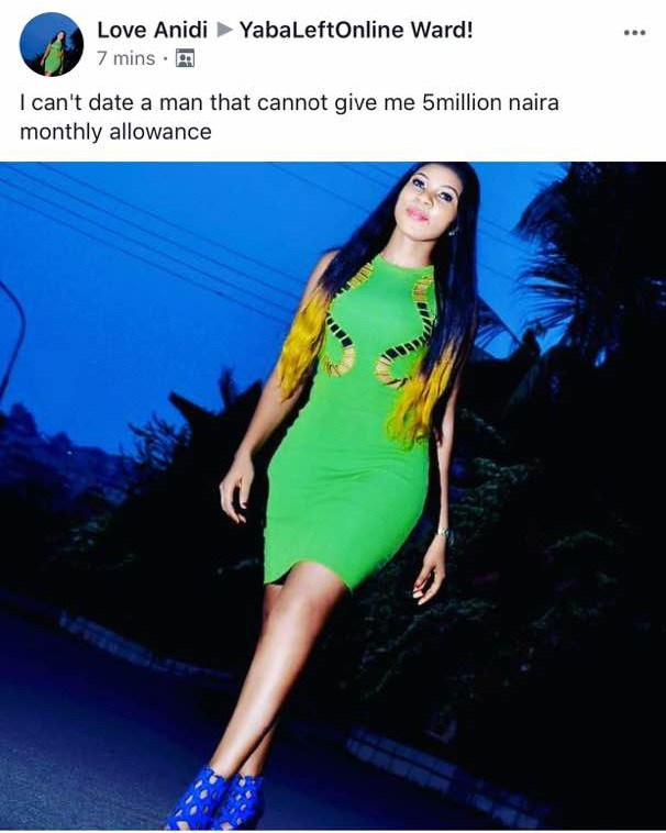 However, Nigerians have attacked her, saying she's a lazy and unserious  person.