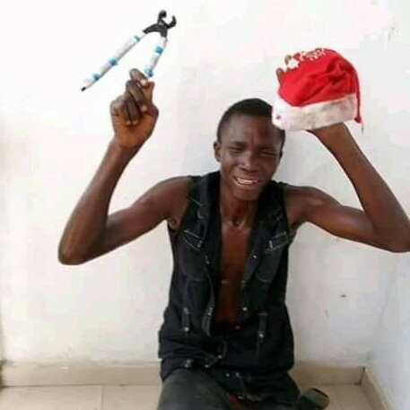 Thief Cries After Being Caught Trying To Break Into A Home In Delta State (Photos)